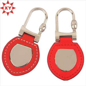 Top Sell Factory Price Leather Keychain with Metal Car Logo pictures & photos