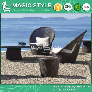 Hight Quality Rattan Sofa with Cushion Patio Wicker Sofa Outdoor Leisure Sofa (Magic Style) pictures & photos