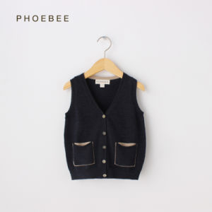 Phoebee Wool Boys Clothes Knitted Sweater Vest for Spring/Autumn pictures & photos