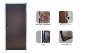 High Quality Residential Bullet Proof Steel Security Door pictures & photos