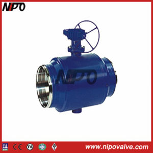 Fully Welded Bw End Trunnion Ball Valve pictures & photos