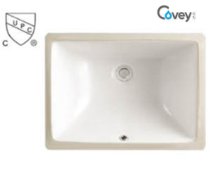 18′′small Size Square Under Counter Washbasin/Ceramic Sink with Cupc/Ce (A-202C)