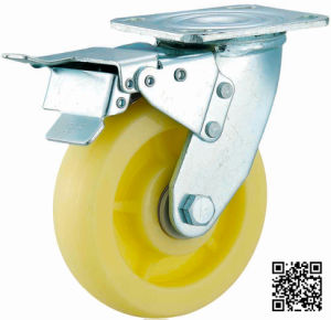 4/5/6/8 Inch Heavy Duty Nylon Caster with Double Brake pictures & photos
