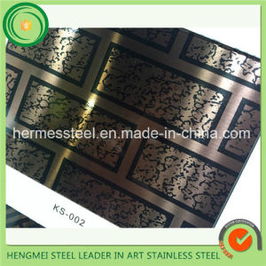Mirror Colored Titanium Etched Stainless Steel Sheet for Architectural Cladding pictures & photos