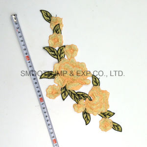 Wholesale Custom Beautiful Flower Rose Embroidery Patch Fabric Women Clothing pictures & photos