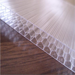 UV-Coated Lexan Honeycomb Polycarbonate Sheet Greenhouse pictures & photos