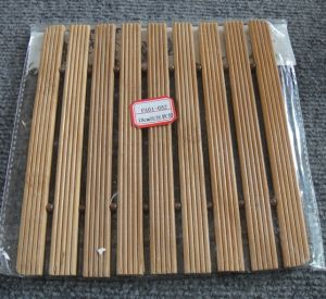 (BC-M1019) Handmade Natural Bamboo Square Heat Insulation Mat pictures & photos