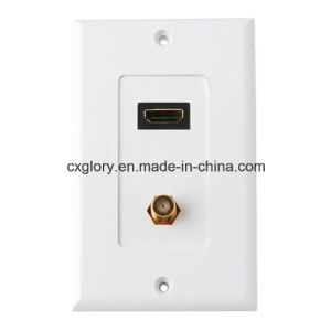 for HDMI RCA Face Plate with High Quality pictures & photos
