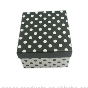 Fasionable White&Black DOT Printing Cardboard Paper Shoes Boxes