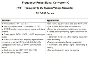 Frequency Pulse Signal Converter IC Sy F1-P1-O 4 pictures & photos