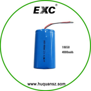 Hot Sales Exc18650 4000mAh 3.7V Li-ion Battery Pack pictures & photos