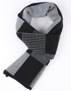 Men′s Winter Wool Polyester Nylon Acrylic Woven Fashion Scarf (YKY4606) pictures & photos