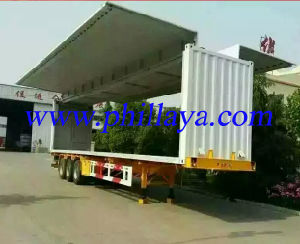 3 BPW Axles Steel Suspension Curtain Trailer pictures & photos