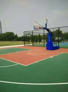 Anti UV Outdoor Basketball Court Synthetic Flooring pictures & photos