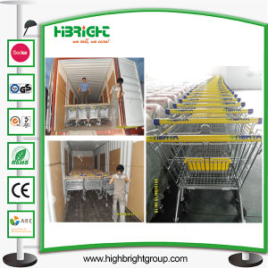 Chrome Plated Surface Handling Shopping Supermarket Trolley pictures & photos