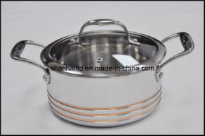 5ply Copper Core All-Clad Body 10PCS Cookware Set Kitchenware pictures & photos