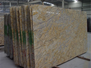 Giallo River Granite Stone Slabs for Countertop pictures & photos