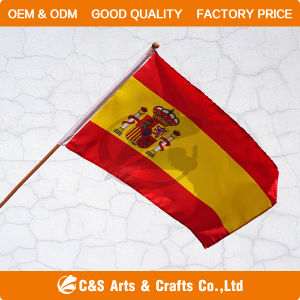 Hot Sale National Advertising Polyester Hand Flag/Banner pictures & photos