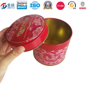 High Quality Round Shaped Metal Packaging Box for Food Storage pictures & photos