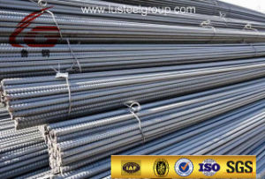 Black Concrete Thread Screw Reinforced Steel Bars / Rebar