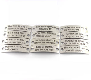 Metal Bracelets With Sayings In Rubber