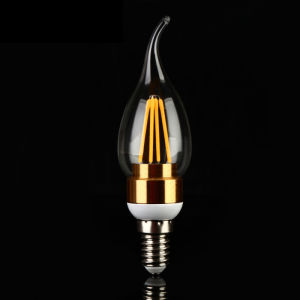 2W 4W C35 E27 Gold/Silver Filament LED Bulb Candle Light pictures & photos