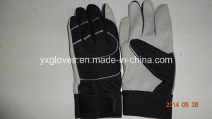 Work Glove-Mechanic Glove-Synthetic Leather Glove-Safety Glove-Weight Lifting Glove pictures & photos
