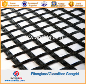 100X100kn Fiberglass Glassfiber Geogrid Coated with Asphalt Bitumen SBR pictures & photos
