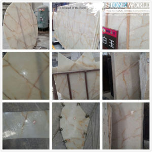 Natural Stone White Jade Marble for Background Landscape pictures & photos