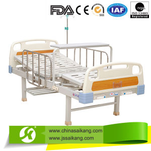 2 Function Stainless Steel Manual Hospital Bed for Sick Room pictures & photos