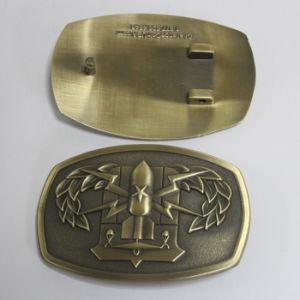Customized 3D Logo Antique Bronze Buckle pictures & photos