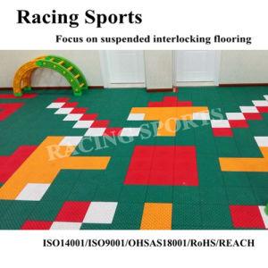 Toncanle Series PP Plastic Floor Suspended Interlocking Sports Flooring