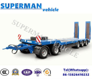 Five Axle Lowdeck Drawbar Full Dolly Trailer/ Lowbed Semi Truck Trailer pictures & photos