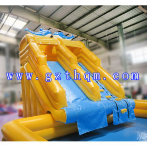 Amusement Park Inflatable Water Slide with Pool/Inflatable Water Park Games pictures & photos