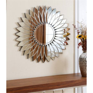 Corn Leaves Shaped Round Venice Wall Mirror for Home Decoration pictures & photos
