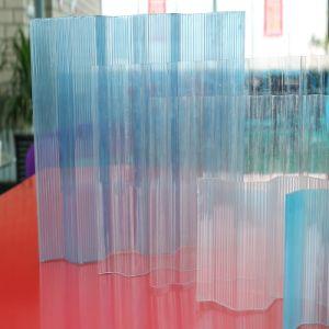 0.8mm Blue Polycarbonate Corrugated Sheet