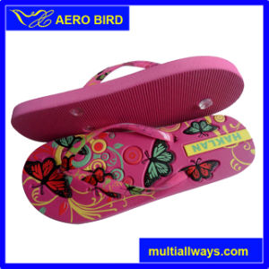African Wholesaler Price PE Slippers with Colorful Strap (14G012) pictures & photos