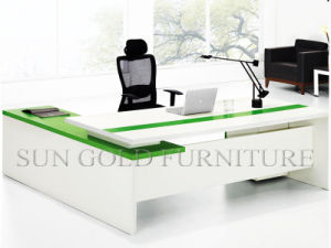 China Modern White Green Office Table Design Office Furniture Set