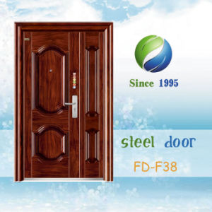 China Newest Develop and Design Single Steel Security Door (FD-F38) pictures & photos