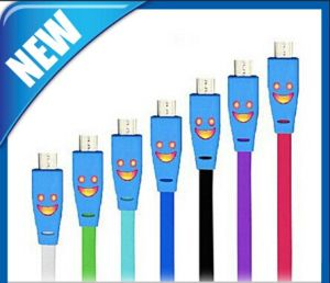 Smile Face Sync LED Light Cable Micro USB pictures & photos