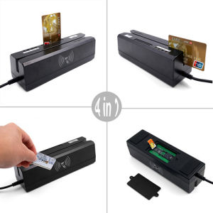 Zcs 80 4-in-1 Creditcard Encoder&Writer Magneticf & IC/EMV Smart Chip RFID&13.56MHz Nfc& Psam Card Reader Sdk