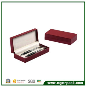 Elegant Red Paper Wrapping Plastic Pen Case for Promotion pictures & photos