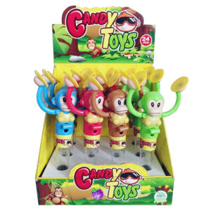 Monkeys Playing Gongs Candy Promotion Toy (H10069008) pictures & photos