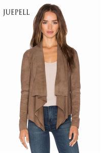 Brown Color Plus Size Suede Women Jacket pictures & photos