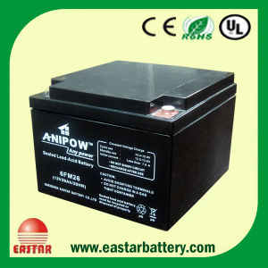 Sealed Maintenance Free Solar Battery 12V26ah Rehcargeable AGM Battery Pack pictures & photos