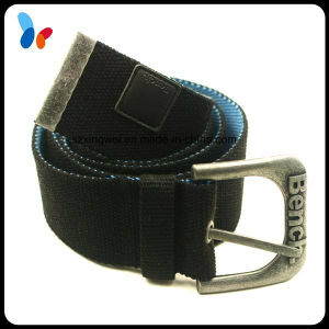 Fashion Elastic Polyester Stretch Men′s Belts with Anti-Silver Buckle pictures & photos