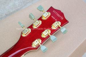 Hanhai Music / Es-335 Semi-Hollow Red Electric Guitar with Tremolo System pictures & photos