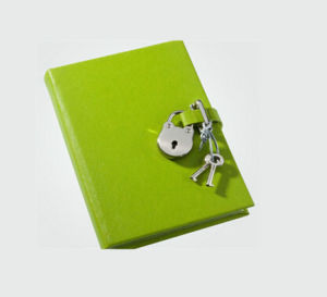 OEM New Design Light Green Diary with Lock pictures & photos