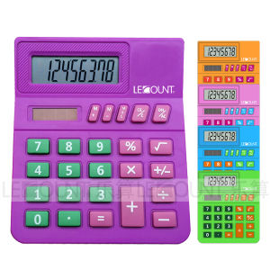 8 Digits Small Desktop Calculator for Students/Kids with Big Room for Class Number (LC289B)