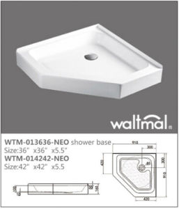 Diamond Shape Quality Shower Base/Tray with Flange pictures & photos